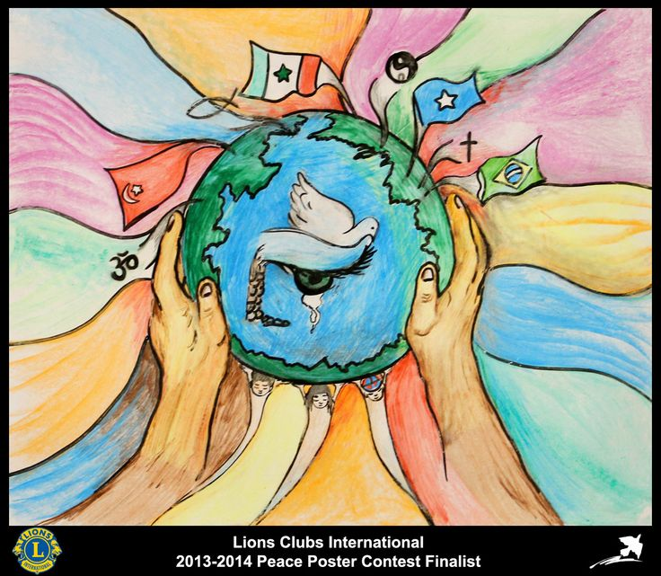 Finalist from Brazil (Paulo Afonso Lions Club) - 2013-2014 Peace Poster Contest