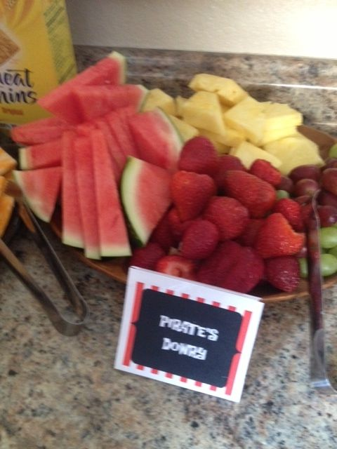 Appetizers ~ Pirates Dowry = Fruit