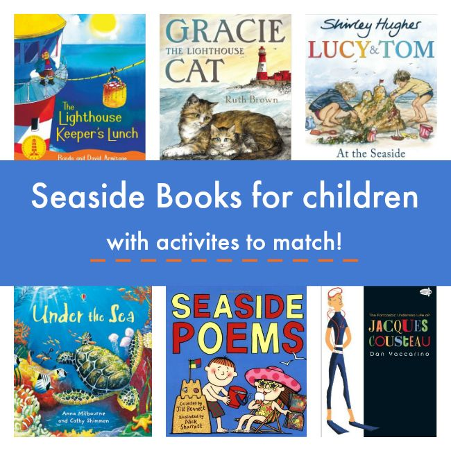 Books about the sea for children with activities to match.  #ocean #sea #seaside #beach #children #read #book #list #booklist #books #school #students #home #family #kids #kidslit #summer #reading #activity #activities