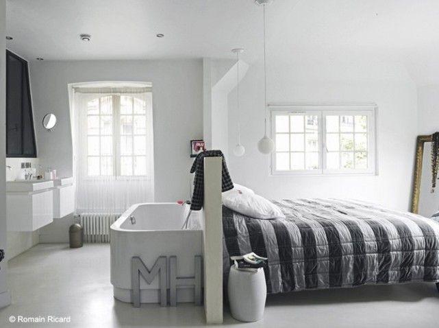 La salle de #bains s'intègre à la #chambre !
