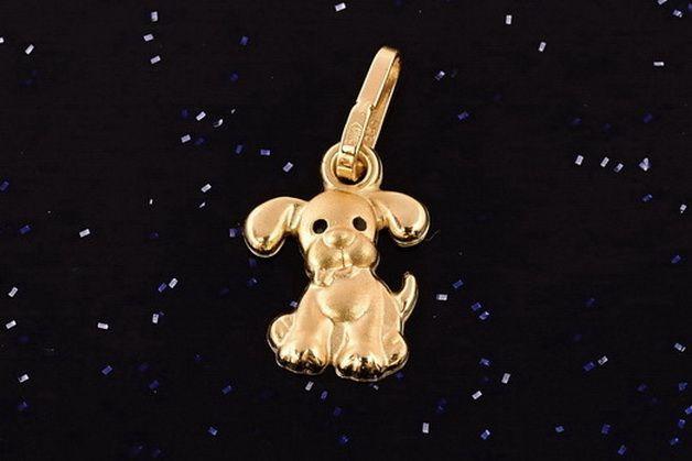 Zlatý přívěsek pes P041 0,30g