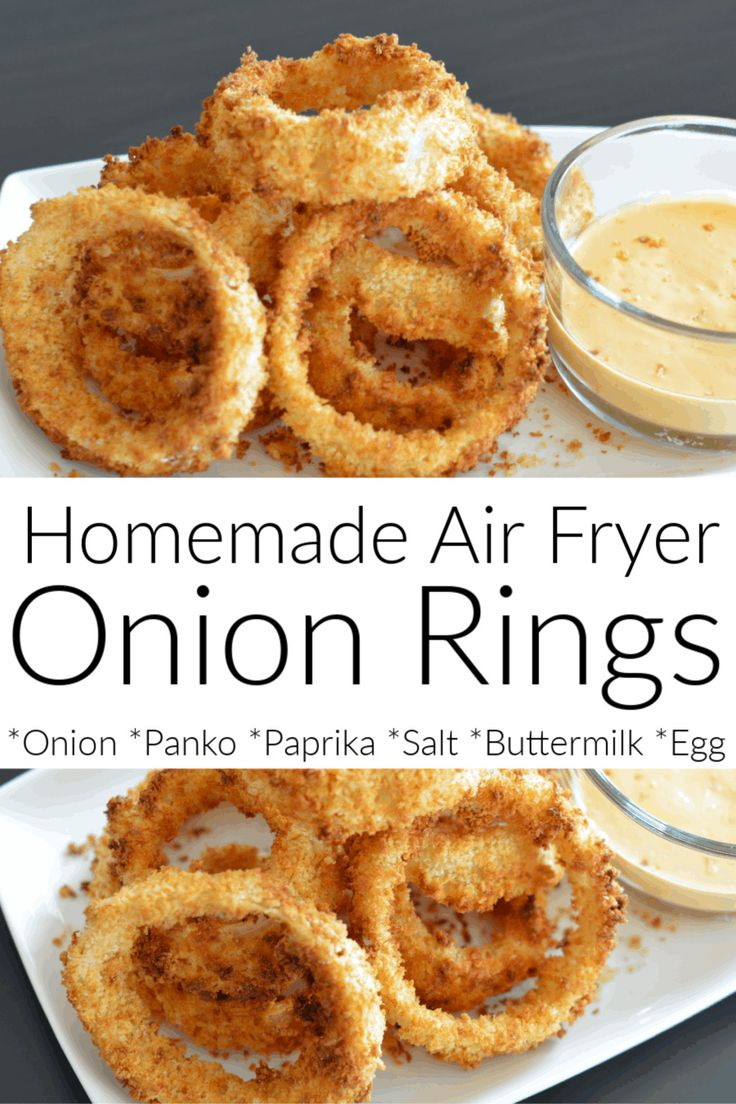 An easy recipe for homemade air fryer onion rings that