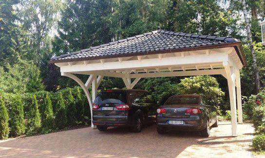Walmdach Carport mit Rundbögen - Solarterrassen & Carportwerk GmbH