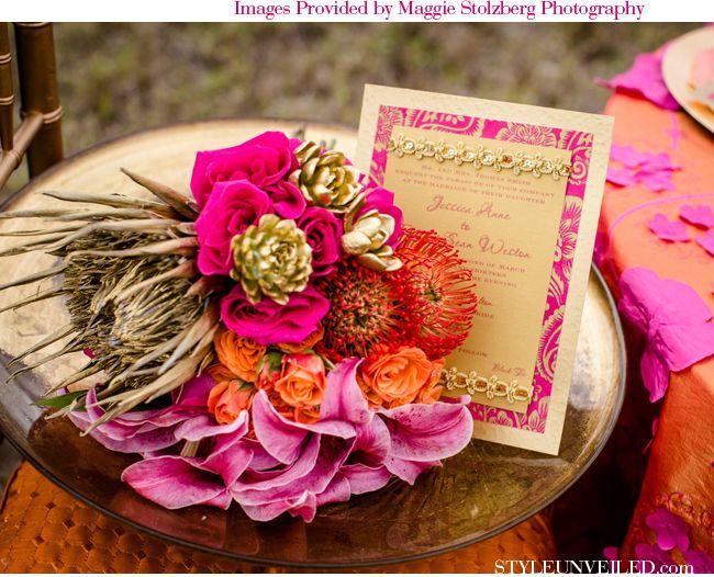 Fuschia And Orange Wedding Invitations: 21 Best Pink, Gold & Orange Images On Pinterest