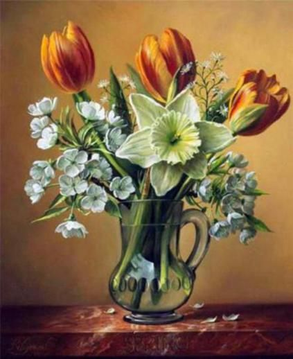 Pieter Wagemans Flower Oil Paintings
