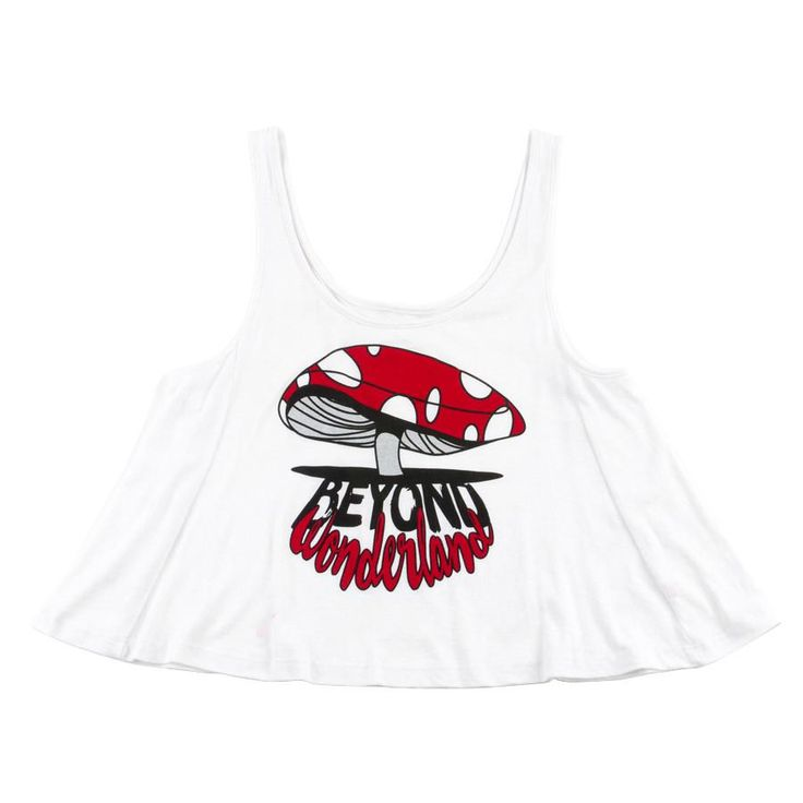 H  Beyond Wonderland Shroomin Crop Top