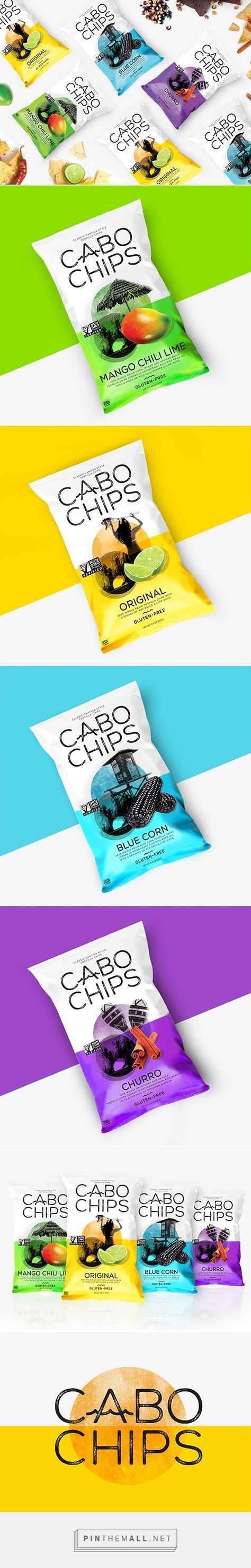 Cabo Chips via Lovely Package by Rook curated by Packaging Diva PD. Tasty expressive chip packaging designs.