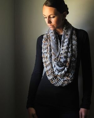 I N G O T - Cowl design by Lisa Mutch -  Openwork stitches and a luxurious silk blend yarn create beautiful texture and drape in this dramatic and oversized cowl. http://www.ravelry.com/patterns/library/ingot