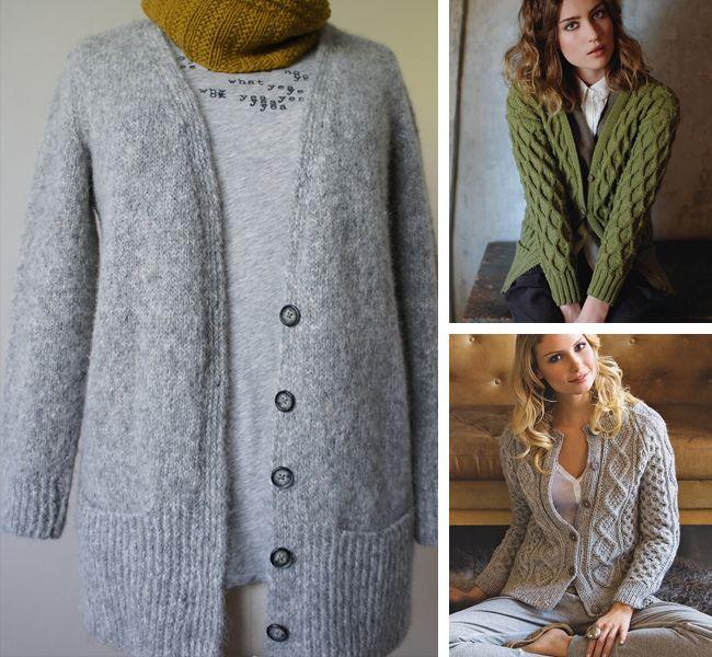 Womens Cardigan Knitting Pattern : 1000+ ideas about Knit Cardigan Pattern on Pinterest Knit shrug, Sweater kn...