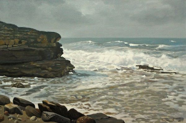 Sea's Up, Terrigal 2013 Oil on canvas 60x90cm