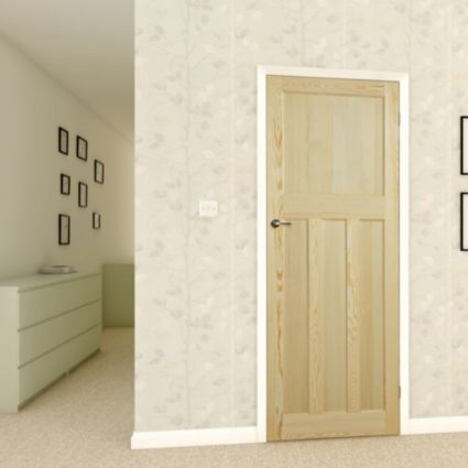 Traditional Panelled Clear Pine Internal Unglazed Door - Bu0026Q for all your home and garden supplies and advice on all the latest DIY trends & 20 best doors 30s glazed style images on Pinterest   Internal ... pezcame.com