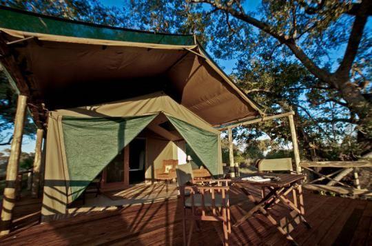 Tented room at Pom Pom Camp (Okavango Delta, Botswana)