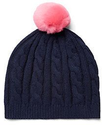 $38, Cable Beanie With Fur Topper by C. Wonder. Sold by C. Wonder. Click for more info: http://lookastic.com/women/shop_items/10755/redirect