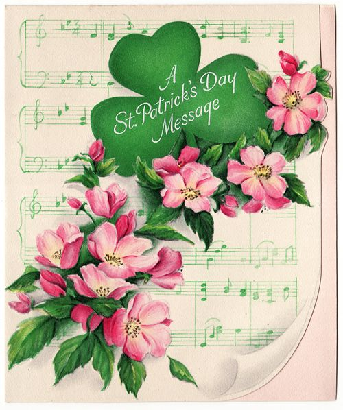 39 best st pattys images on pinterest ireland st patricks day vintage st patricks day card with a shamrock and pink flowers m4hsunfo