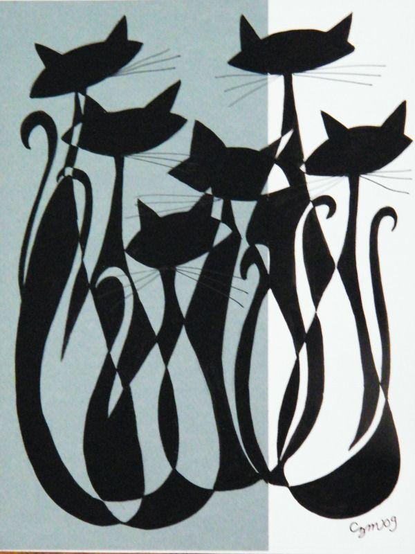 Cool cat art @ elgatogomezarts.com