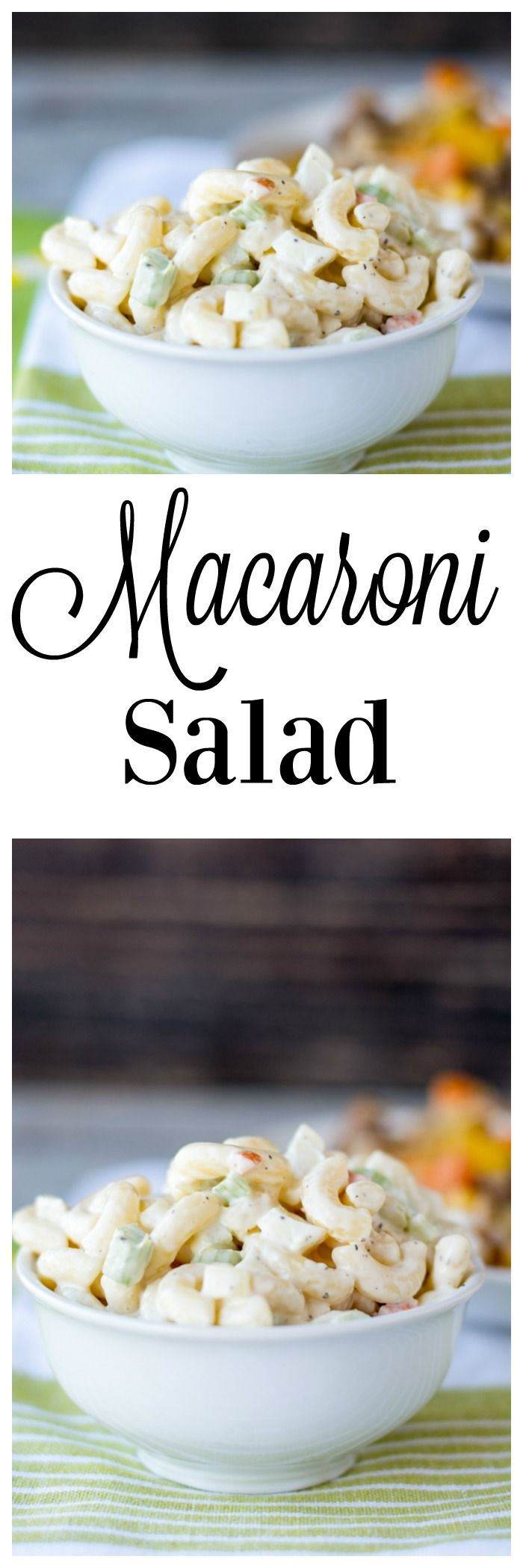 Macaroni Salad- the perfect side dish for summer- goes great with barbecue!