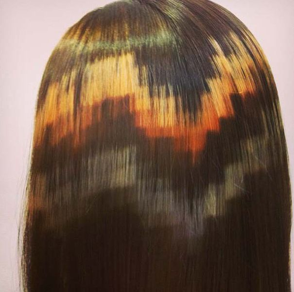 Pixelated Hair Is The Newest Cutting-Edge Trend | Bored Panda