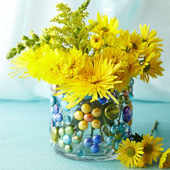 Glass-Gem-Embellished Vase