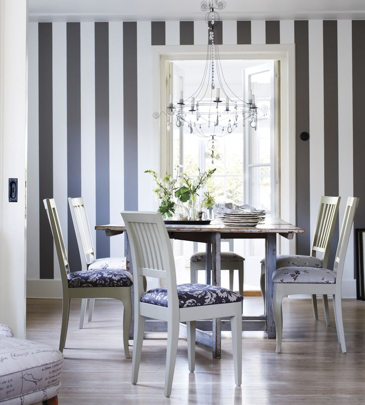 Light and airy dining room.  Trend | Scandi | Magnus Wallpaper by Sandberg | Jane Clayton