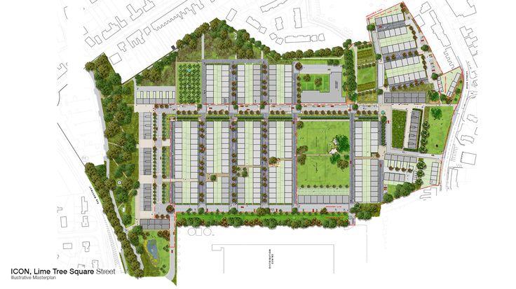 Feilden_Clegg_Bradley_Studios-Lime_Tree_Square-Masterplan