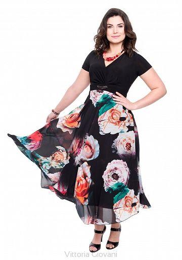 SUKIENKA PLUS SIZE RAGGIO - Vittoria Giovani - Sukienki dla Puszystych – Sukienki Duże Rozmiary – Sukienki XXL