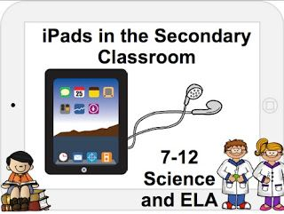 iPads in the Secondary Science and Language Arts Classroom  How to make a document camera  Great apps: stage, mastery connect, popplet, chapter book, scribble press