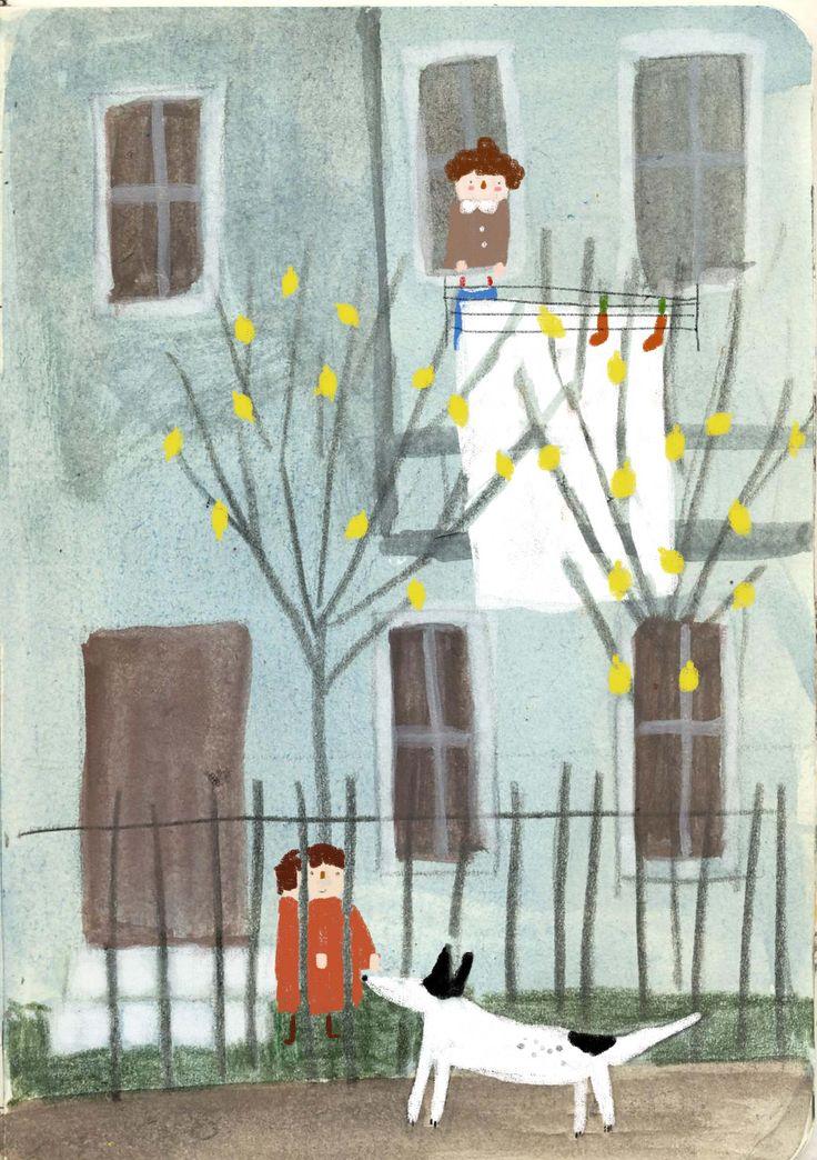 ''stray'' illustration by zafouko yamamoto