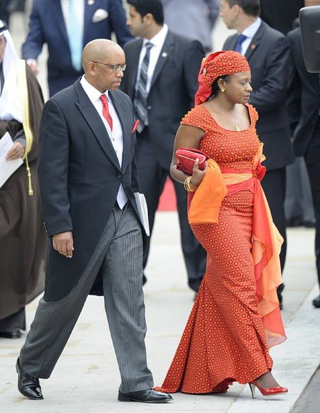 Prince Seeison and Princess Mabereng of Lesotho at the wedding of the Duke & Duchess of Cambridge.