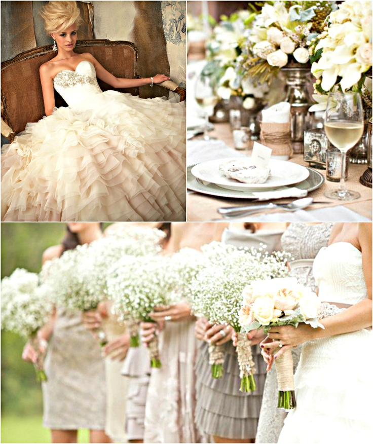 Wedding Ideas On Pinterest: Neutral Flowers, Table Setting And A Fabulous Neutral