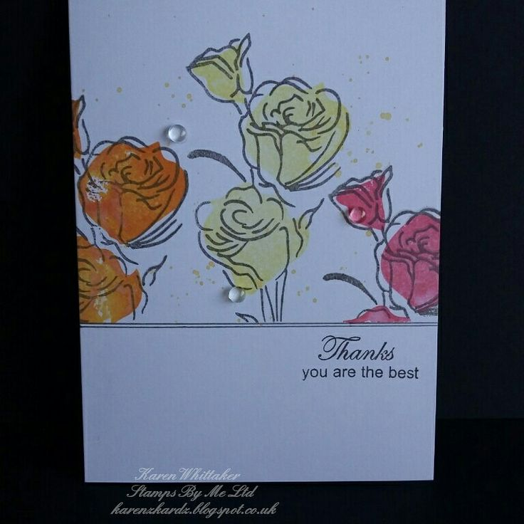 Rose lamination stamp Don't worry be happy... by Stamps By Me  #stampsbyme #dtsample #lamination #roses #flowers #distressoxides #stamps #stamping #card #creative #craft #ilovetocraft