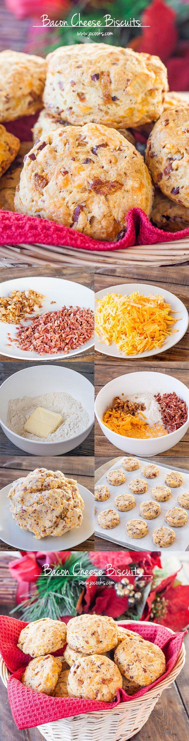 Bacon Cheddar Kekse - leckere,herzhafte Kekse gefüllt mit Bacon, Zwiebeln uhd Cheddar-Käse.