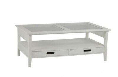 Bridgeport sofabord bord sofa table white glass shelf drawer swedish design hansk www.helsetmobler.no