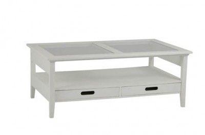 Bridgeport sofabord bord sofa table white glass shelf drawer swedish design hansk www.helsetmobler.no