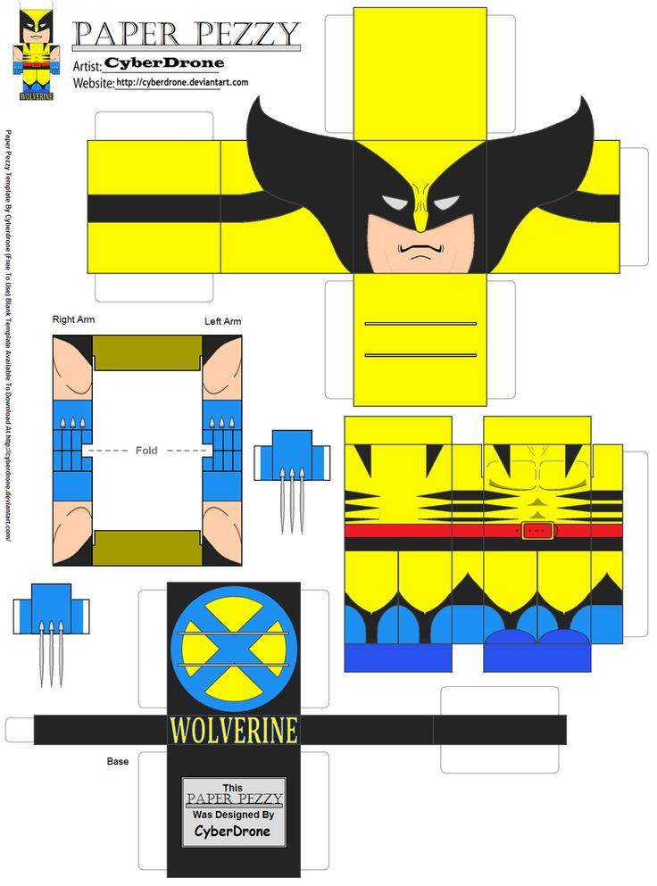 Paper Pezzy- Wolverine by CyberDrone.deviantart.com on @deviantART