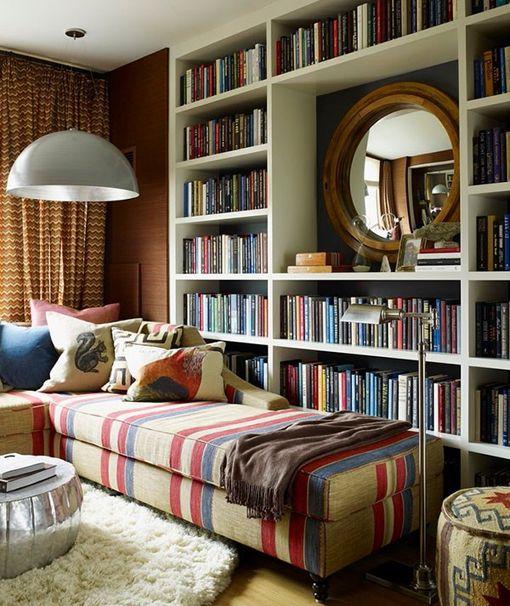 Librerías hechas a medida laqueadas en blanco