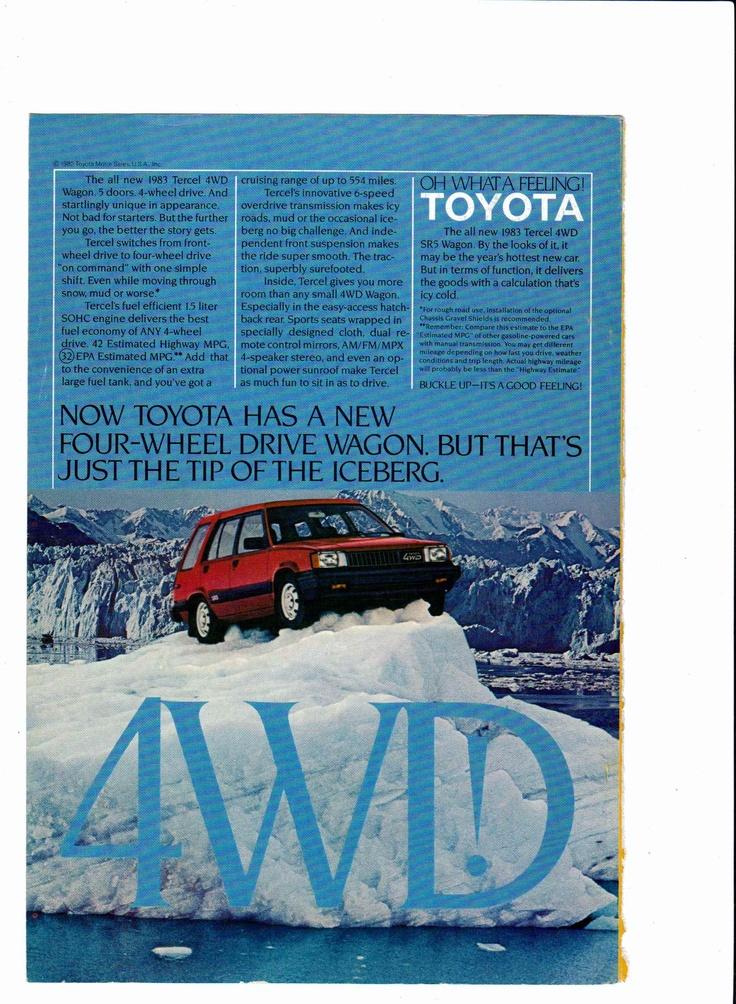 1983 Toyota Tercel 4WD Wagon ad