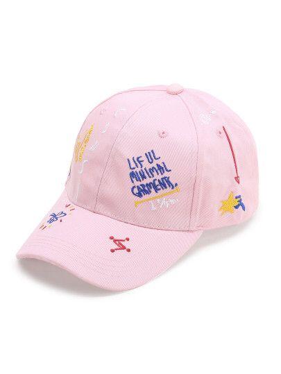 Casquette de baseball rose de motif Only CHF$9.30
