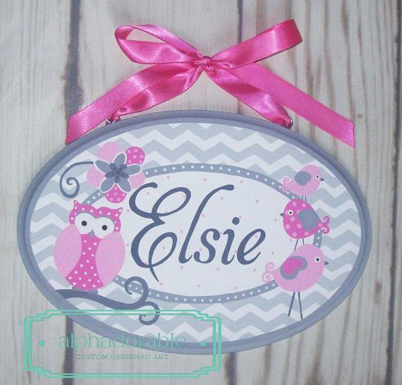 Custom Artisan hand painted name sign name plate by Alphadorable