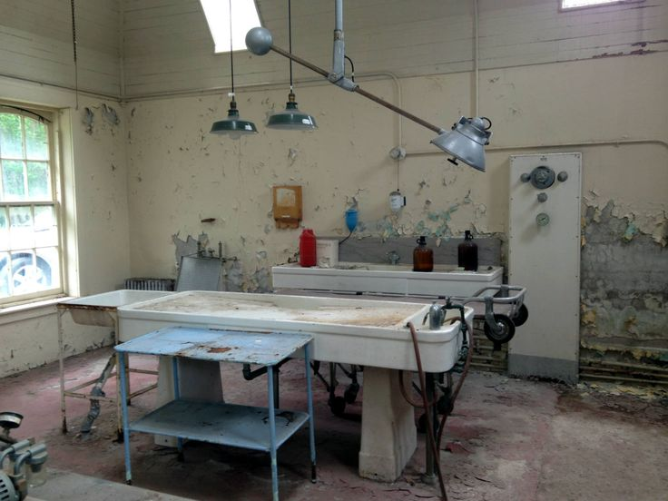 Morgue and Embalming equipment at the abandoned Willard Asylum for the Chronic Insane in Ovid, NY on Seneca Lake