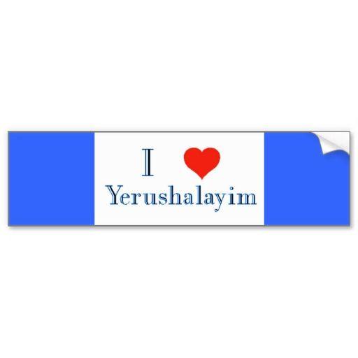 I love yerushalayim bumper sticker