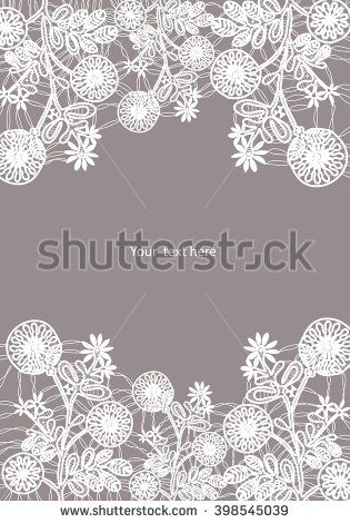 White bobbin lace flower vector texture background for all. Eps10 #lace #bobbin #vector #shutterstok  #illustration #wedding  #retro #vintage