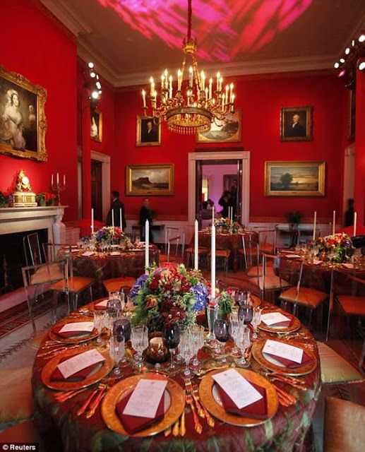 White House   Red Room  Set for a dinner during the Reagan Era 58 best Red Interiors images on Pinterest   Red rooms  Red  . Red Room Decor. Home Design Ideas