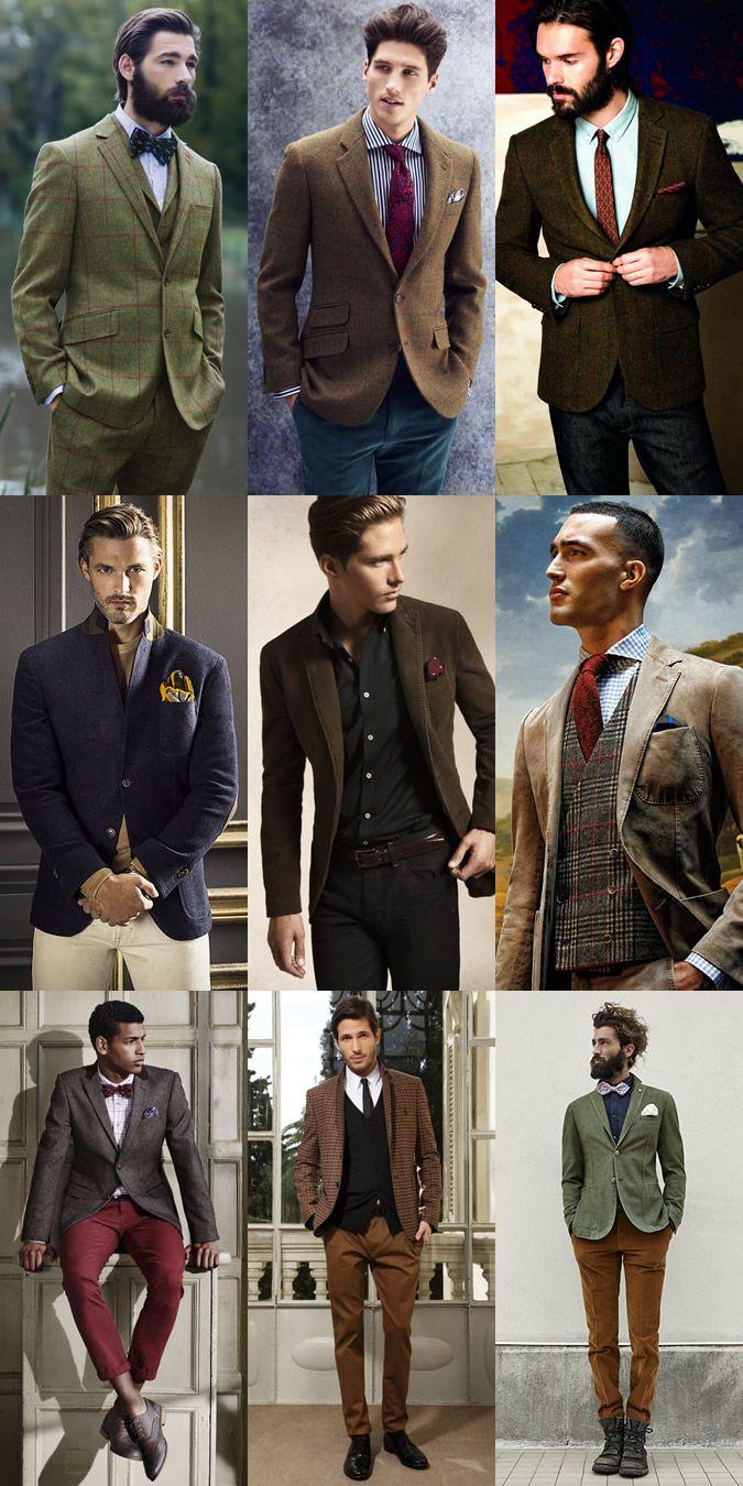 Men's Tweed Blazers and Waistcoats Lookbook