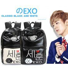 2015 mode kawaii EXO marque impression en cuir sac à dos hommes femmes sac d'école japonaise mochila enfant fanny pack mignon cartables(China (Mainland))