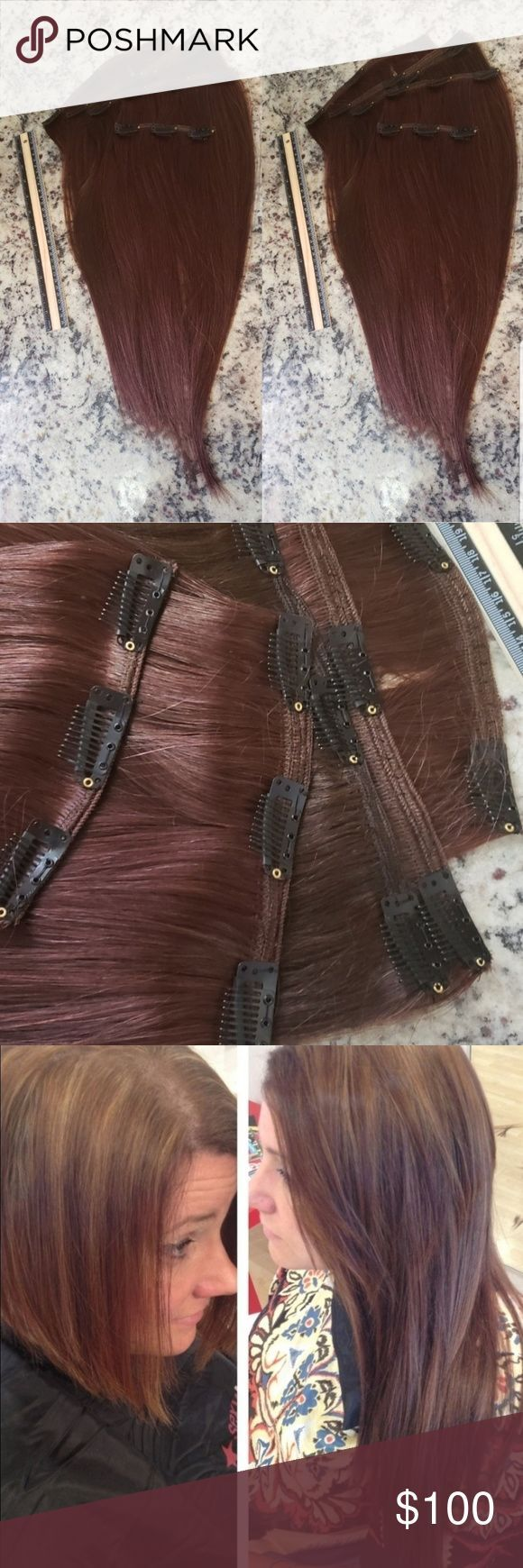 5 pcs Double Wefted 🌟 Clip in Hair Extensions ….
