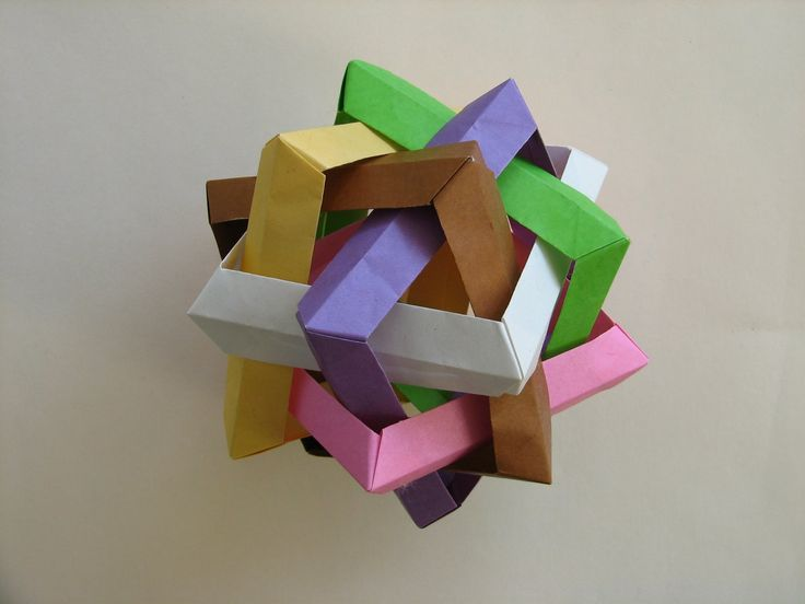 origami ball  ornament