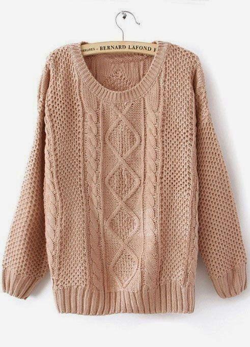 Rosa acessórios em tricô & crochê: Blusa de tricô