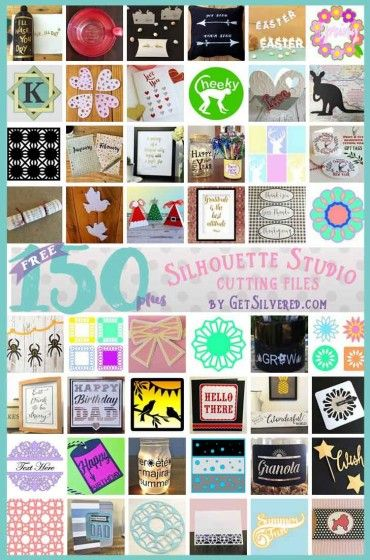 150 plus Free Silhouette Studio Cutting Files at GetSilvered.com