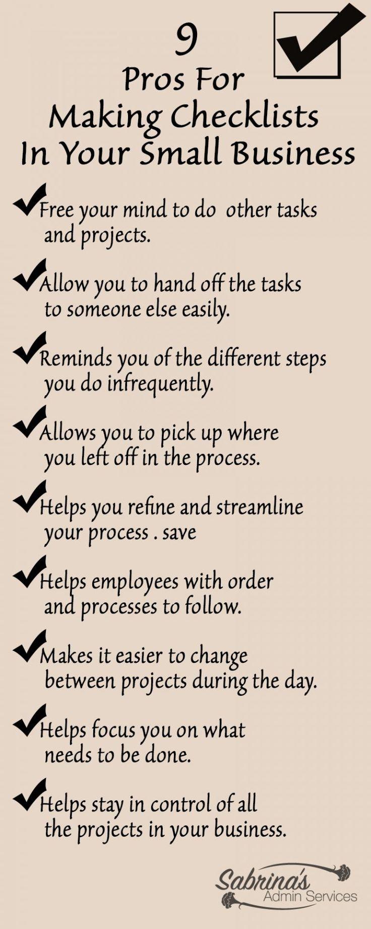 making checklists