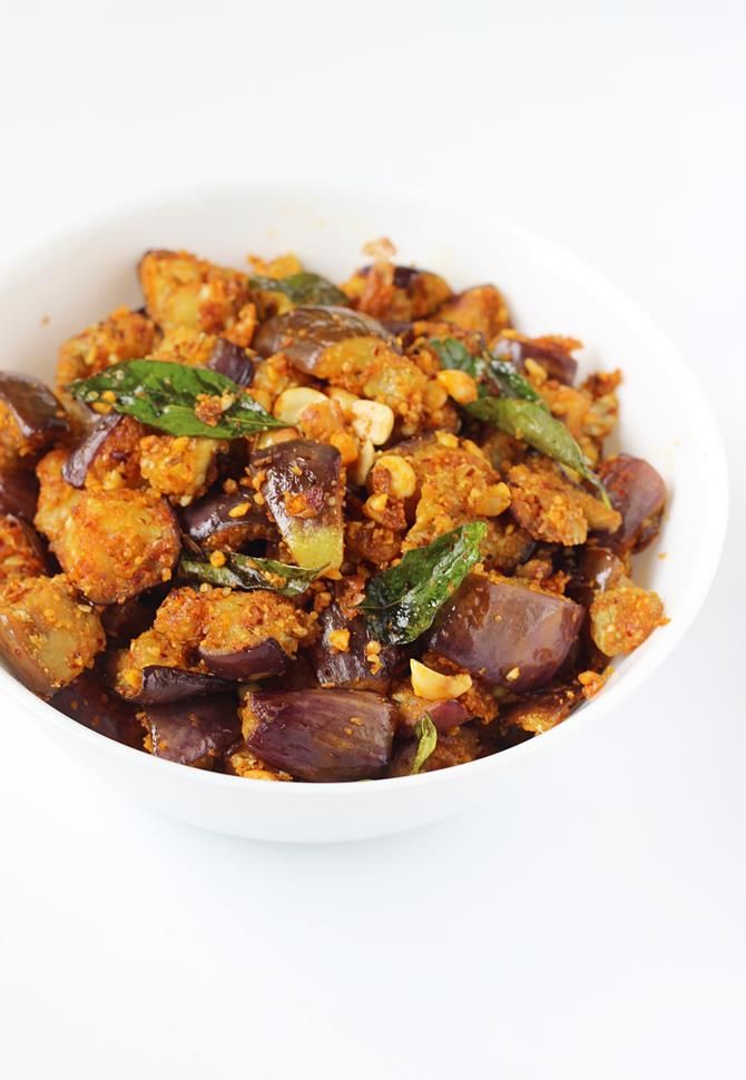 Brinjal fry recipe - spicy, delicious and easy vankaya fry recipe with step by step photos. This can be served with rice, chapathi. Goes good in lunch box